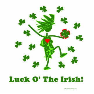 Luck O' the Irish Whimsical Design Acrylic Cut Outs