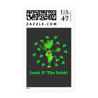 Luck O' the Irish Whimsical Design Postage