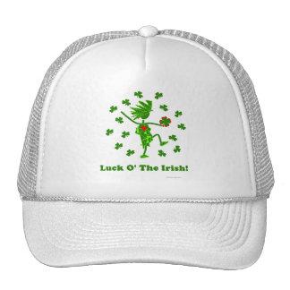 Luck O' the Irish Whimsical Design Trucker Hat