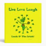 Luck O' the Irish Whimsical Design Vinyl Binders