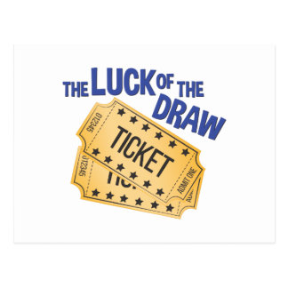 Luck Of Draw Postcard