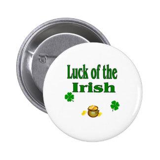 luck of irish pinback button