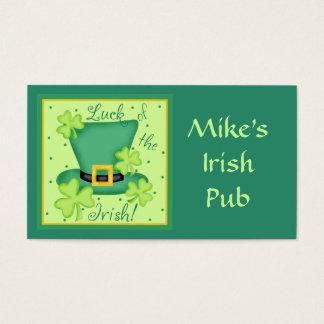 Luck of Irish Restaurant Pub Organization Business Card