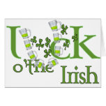 Luck of the Irish Beer Horse Shoe Luck Design Card