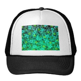 Luck of the Irish, Bold Green Floral Ombre Art Trucker Hat