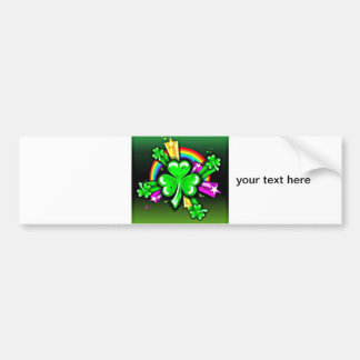 Luck of the Irish Car Bumper Sticker
