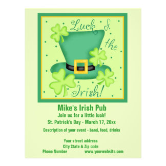 Luck of the Irish Business Promotion Custom Flyer