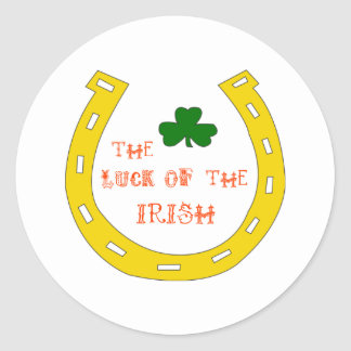 Luck Of The Irish Classic Round Sticker