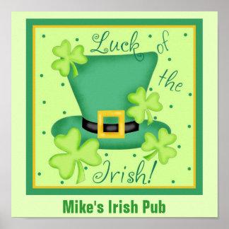 Luck of the Irish Custom Pub Restauran Promotion Print