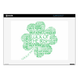 """LUCK OF THE IRISH DECAL FOR 15"""" LAPTOP"""