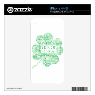 LUCK OF THE IRISH DECALS FOR iPhone 4S