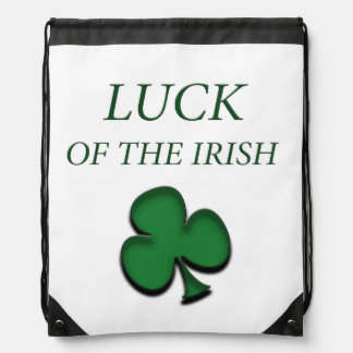 Luck Of The Irish Drawstring Backpack