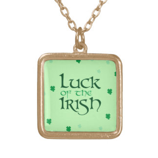 Luck of the Irish Gold Necklace
