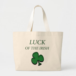 Luck Of The Irish Large Tote Bag