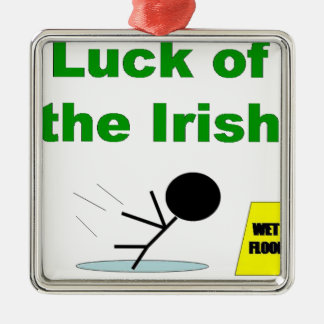 Luck of the Irish.png Metal Ornament