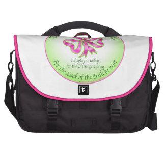 Luck of the Irish Shamrock Ribbon Bags For Laptop