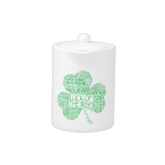 Luck of the Irish Shamrock Teapot