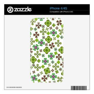 Luck of the Irish Shamrocks  Zazzle Skin Skins For iPhone 4