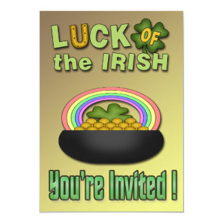 Luck of the Irish St. Paddy's Day Party Invitation
