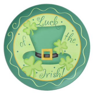 Luck of the Irish St. Patrick's Day Celebration Dinner Plate