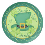 Luck of the Irish St. Patrick's Day Celebration Party Plate