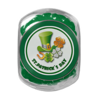 Luck of the Irish. St. Patrick's Day Gift Candy Jelly Belly Candy Jars