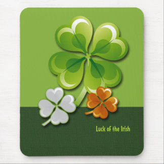 Luck of the Irish. St. Patrick's Day Gift Mousepad
