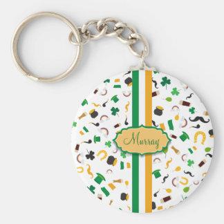 Luck of the Irish- St. Patrick's day irish items Basic Round Button Keychain