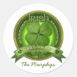 Luck of the Irish - St Patrick's day Classic Round Sticker