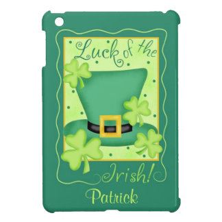 Luck of the Irish St. Patrick's Name Personalized iPad Mini Cover