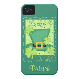 Luck of the Irish St. Patrick's Name Personalized iPhone 4 Case