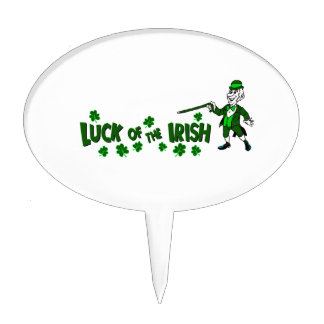 luck of the irish with leprechaun graphic.png cake toppers