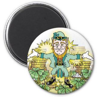 Luck of the Leprechaun M 2 Inch Round Magnet