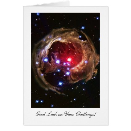 Luck on Challenge, Red Supergiant Star Monocerotis Greeting Card