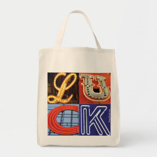 LUCK Organic Grocery Bag by JimmyBrand