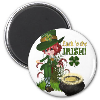 Luck O'the Irish Leprechaun Magnet