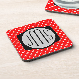 luck Red Diva Elephant Drink Coasters