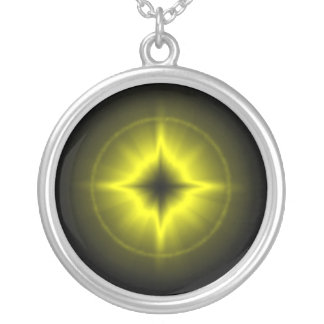 Luck star in yellow silver plated necklace