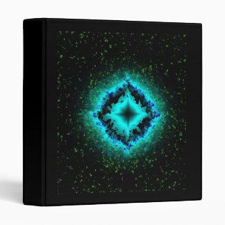 Luck stars mintgreen black Art Deco 3 Ring Binder