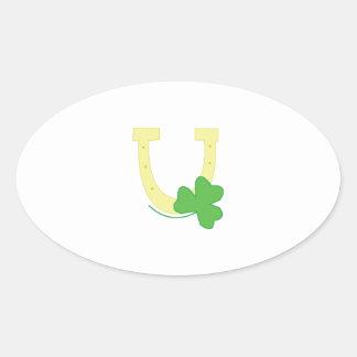 Luck Symbols Oval Sticker
