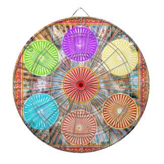 LUCKY7 Blessings Goodluck Chakra Rounds Circles Dart Board