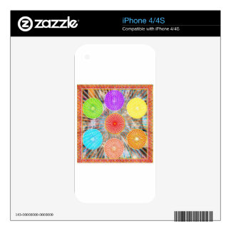 LUCKY7 Blessings Goodluck Chakra Rounds Circles iPhone 4 Skin