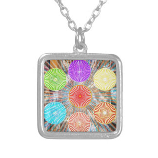 LUCKY7 Blessings Goodluck Chakra Rounds Circles Silver Plated Necklace