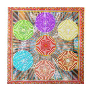 LUCKY7 Blessings Goodluck Chakra Rounds Circles Tile