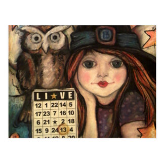 Lucky 13 Bewitching Fairy Magic Postcard