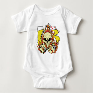 Lucky 13 Dice and Skull Baby Bodysuit