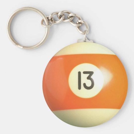 Lucky 13 keychain