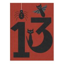 Lucky #13 postcard