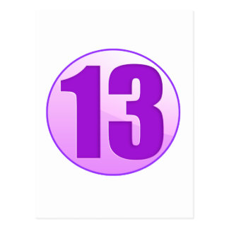 LUCKY 13 PURPLE PRODUCTS POSTCARD