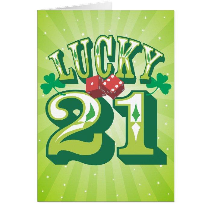 Lucky 21 Birthday Card